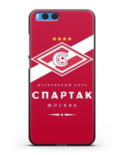 Чехол с логотипом ФК Спартак Москва с красным фоном силикон черный для Xiaomi Mi Note 3