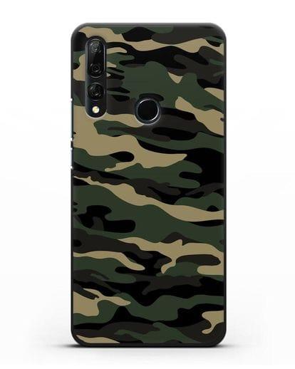 Чехол с армейским рисунком камуфляж вудланд силикон черный для Honor 9X