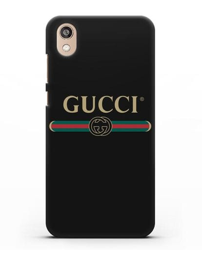 Чехол с эмблемой Gucci силикон черный для Honor 8S