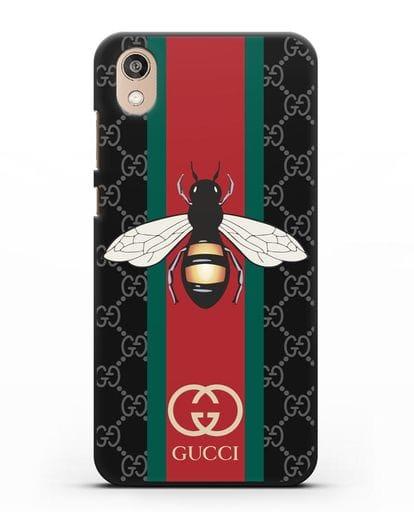 Чехол Гуччи с пчелой силикон черный для Honor 8S