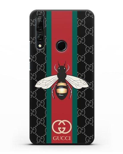Чехол Гуччи с пчелой силикон черный для Honor 9X