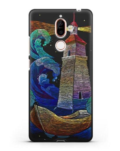 Чехол Маяк силикон черный для Nokia 7 plus