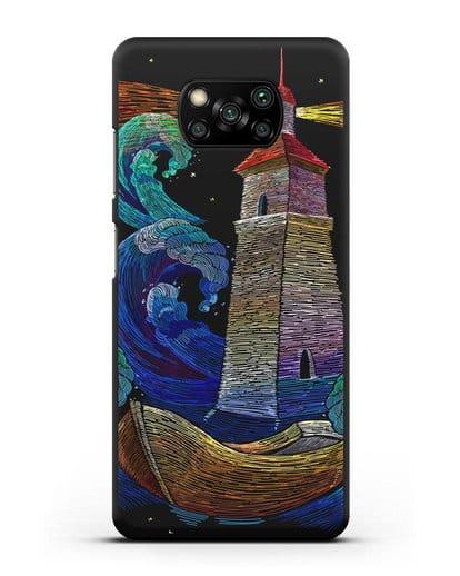 Чехол Маяк силикон черный для Xiaomi Poco X3