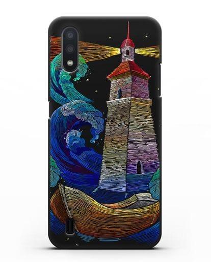 Чехол Маяк силикон черный для Samsung Galaxy A01 [SM-A015F]