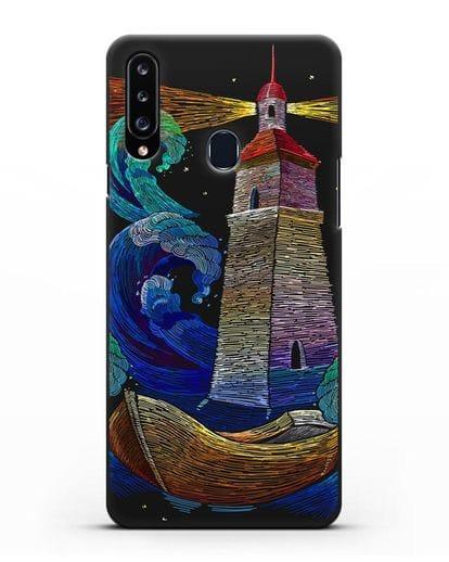 Чехол Маяк силикон черный для Samsung Galaxy A20s [SM-A207FN]