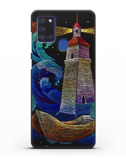 Чехол Маяк силикон черный для Samsung Galaxy A21s [SM-A217F]