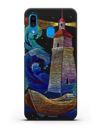 Чехол Маяк силикон черный для Samsung Galaxy A30 [SM-A305FN]
