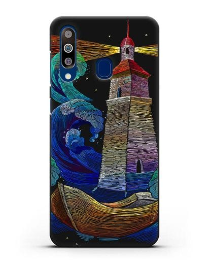 Чехол Маяк силикон черный для Samsung Galaxy A60 [SM-A606F]