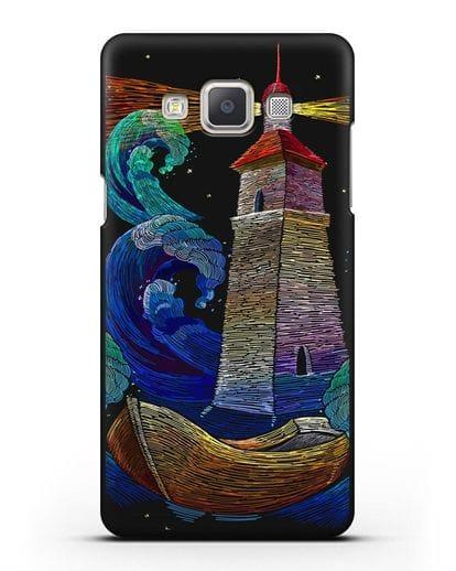 Чехол Маяк силикон черный для Samsung Galaxy A7 2015 [SM-A700F]