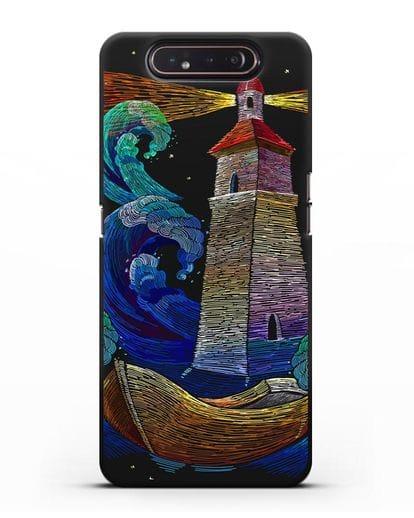 Чехол Маяк силикон черный для Samsung Galaxy A80 [SM-A805F]