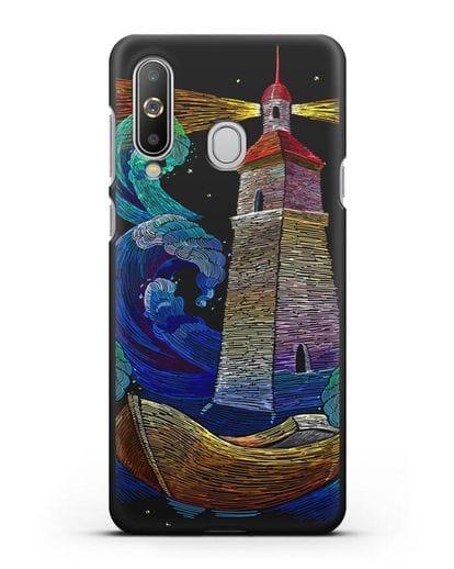 Чехол Маяк силикон черный для Samsung Galaxy A8s [SM-G8870]
