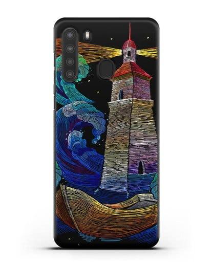 Чехол Маяк силикон черный для Samsung Galaxy A21 [SM-A215]