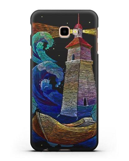 Чехол Маяк силикон черный для Samsung Galaxy J4 Plus [SM-J415]
