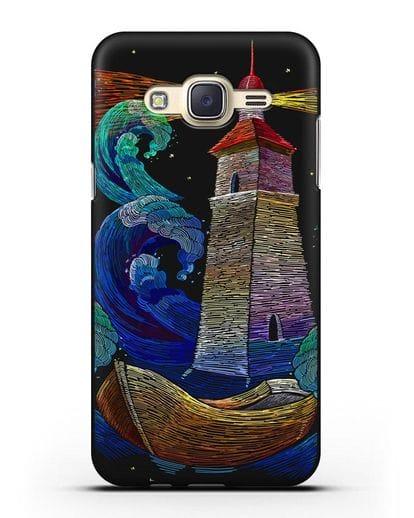Чехол Маяк силикон черный для Samsung Galaxy J7 2015 [SM-J700H]