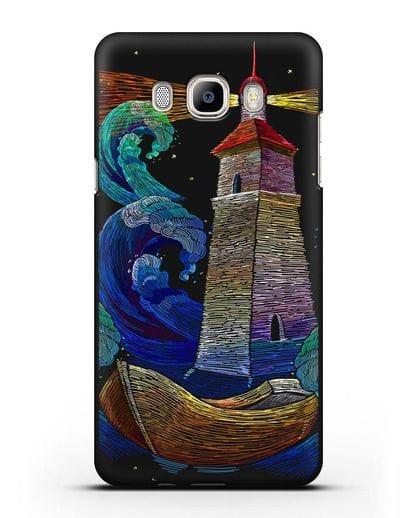 Чехол Маяк силикон черный для Samsung Galaxy J7 2016 [SM-J710F]