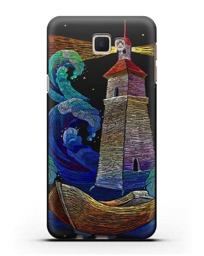 Чехол Маяк силикон черный для Samsung Galaxy J7 Prime [SM-G610F]