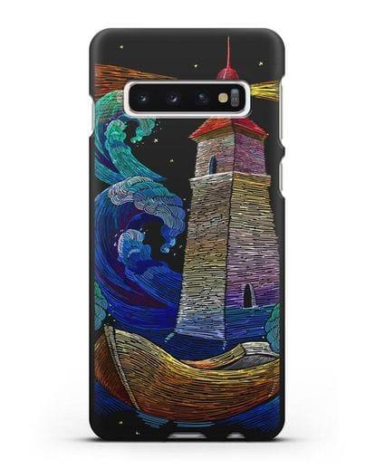 Чехол Маяк силикон черный для Samsung Galaxy S10 Plus [SM-G975F]