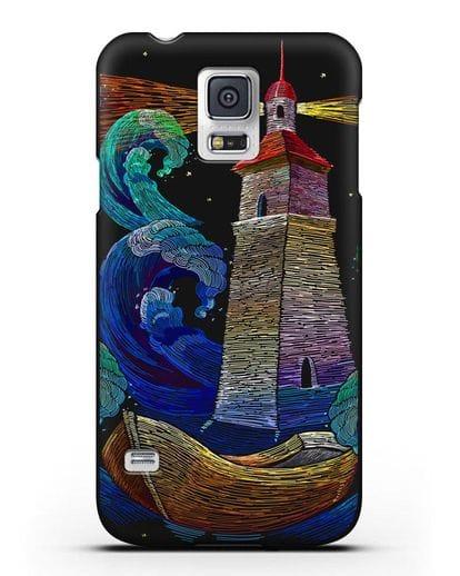 Чехол Маяк силикон черный для Samsung Galaxy S5 [SM-G900F]
