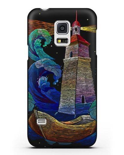 Чехол Маяк силикон черный для Samsung Galaxy S5 Mini [SM-G800F]