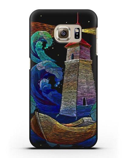Чехол Маяк силикон черный для Samsung Galaxy S6 Edge Plus [SM-928F]