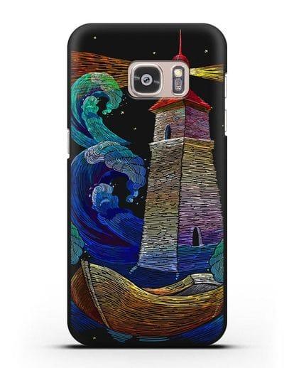 Чехол Маяк силикон черный для Samsung Galaxy S7 [SM-G930F]