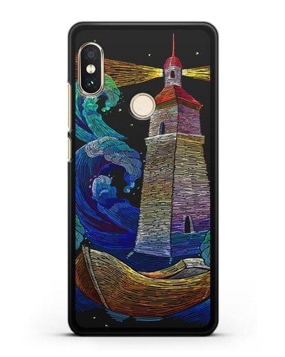 Чехол Маяк силикон черный для Xiaomi Mi A2 Lite