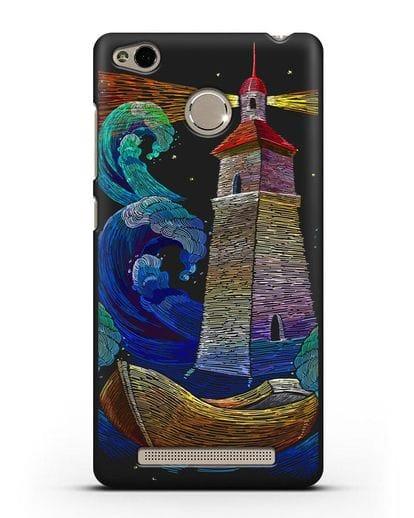 Чехол Маяк силикон черный для Xiaomi Redmi 3s