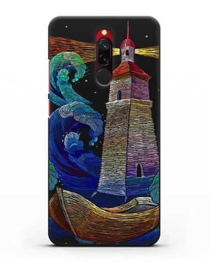 Чехол Маяк силикон черный для Xiaomi Redmi 8