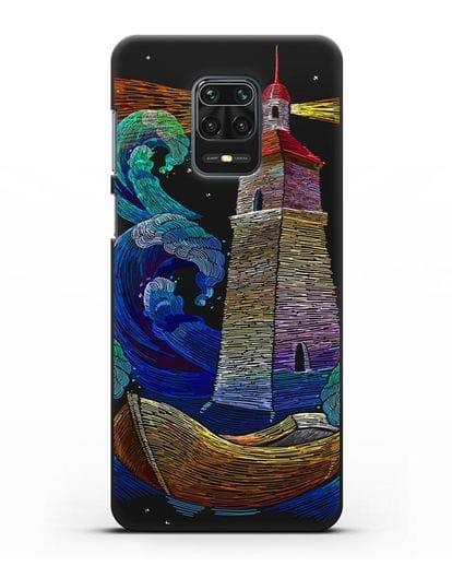 Чехол Маяк силикон черный для Xiaomi Redmi Note 9 Pro