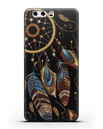 Чехол Ловец снов силикон черный для Huawei P10 Plus