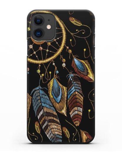 Чехол Ловец снов силикон черный для iPhone 11
