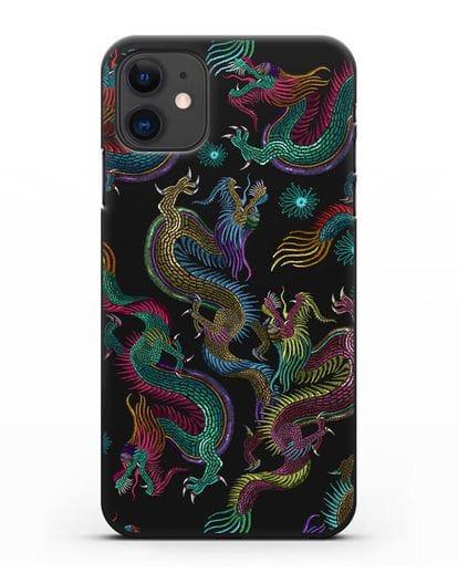 Чехол Дракон силикон черный для iPhone 11