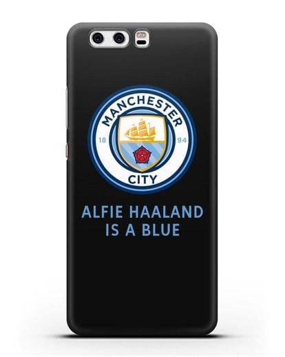 Чехол с логотипом Manchester City силикон черный для Huawei P10 Plus