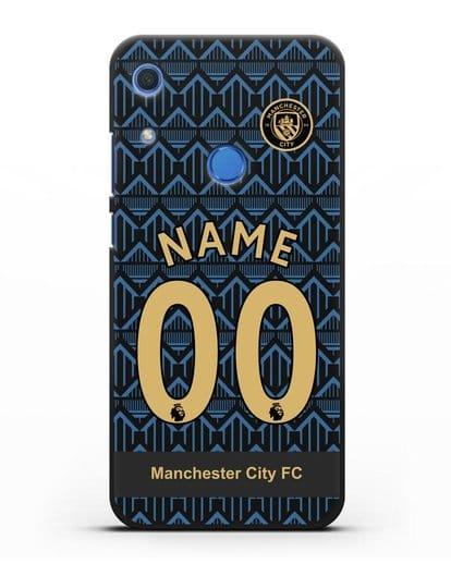Именной чехол ФК Манчестер Сити с фамилией и номером (сезон 2020-2021) гостевая форма силикон черный для Huawei Y6s