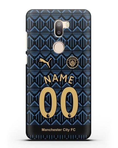 Именной чехол ФК Манчестер Сити с фамилией и номером (сезон 2020-2021) гостевая форма силикон черный для Xiaomi Mi 5S Plus