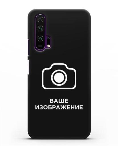 Чехол с фотографией, рисунком, логотипом на заказ силикон черный для Honor 20 Pro