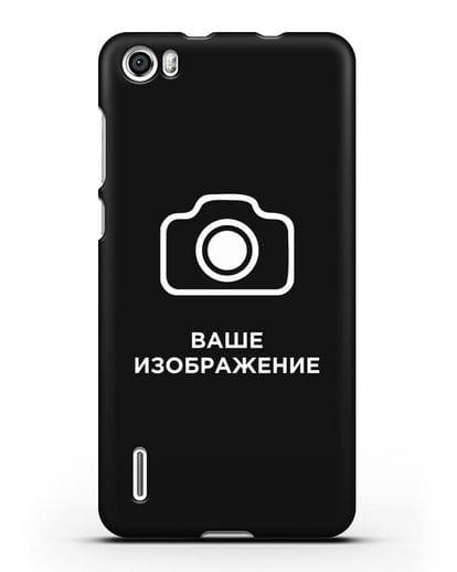 Чехол с фотографией, рисунком, логотипом на заказ силикон черный для Honor 6