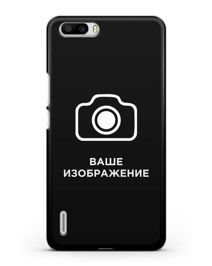Чехол с фотографией, рисунком, логотипом на заказ силикон черный для Honor 6 Plus