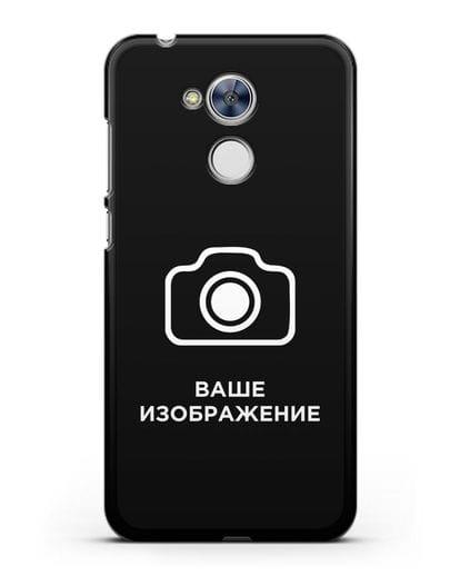 Чехол с фотографией, рисунком, логотипом на заказ силикон черный для Honor 6A