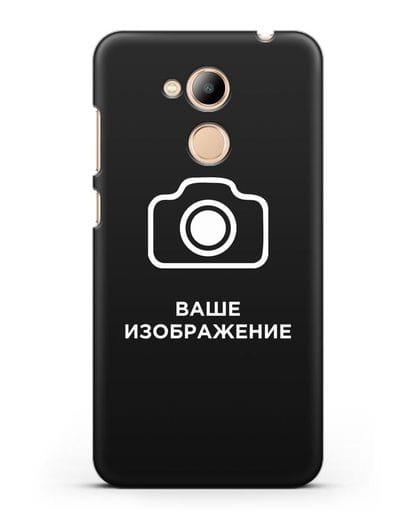 Чехол с фотографией, рисунком, логотипом на заказ силикон черный для Honor 6C Pro
