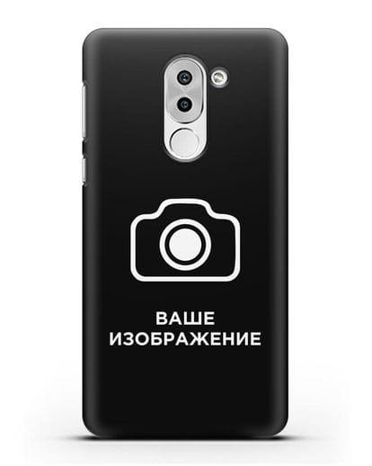 Чехол с фотографией, рисунком, логотипом на заказ силикон черный для Honor 6X