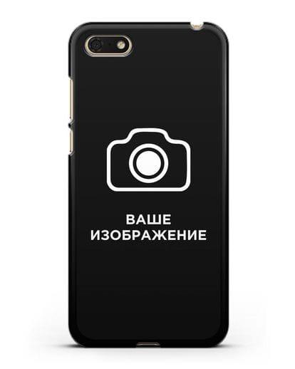 Чехол с фотографией, рисунком, логотипом на заказ силикон черный для Honor 7А