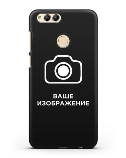 Чехол с фотографией, рисунком, логотипом на заказ силикон черный для Honor 7X