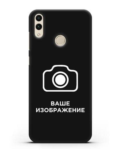 Чехол с фотографией, рисунком, логотипом на заказ силикон черный для Honor 8C