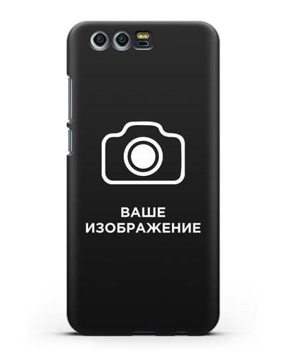 Чехол с фотографией, рисунком, логотипом на заказ силикон черный для Honor 9