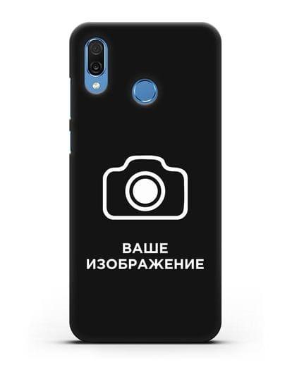 Чехол с фотографией, рисунком, логотипом на заказ силикон черный для Honor Play