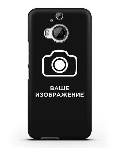 Чехол с фотографией, рисунком, логотипом на заказ силикон черный для HTC One M9 Plus