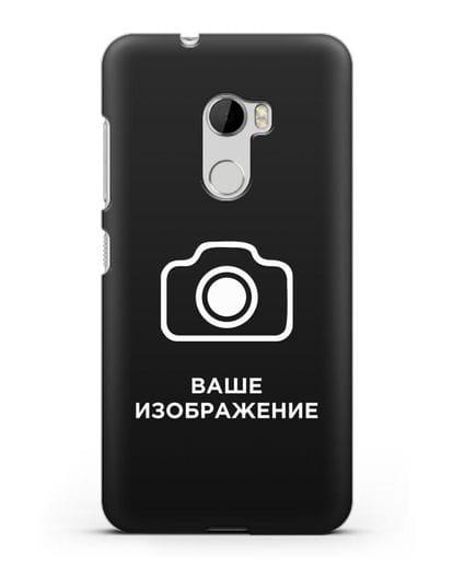Чехол с фотографией, рисунком, логотипом на заказ силикон черный для HTC One X10