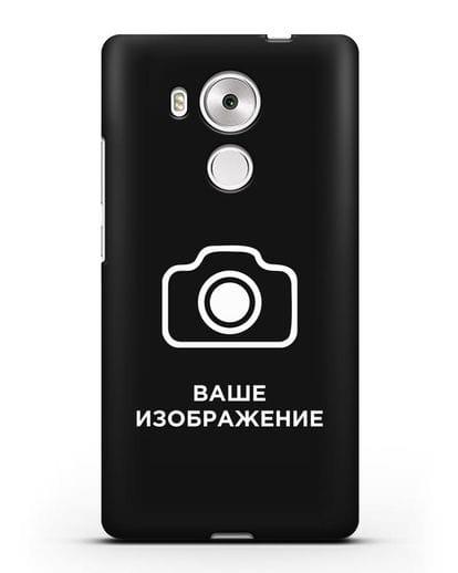 Чехол с фотографией, рисунком, логотипом на заказ силикон черный для Huawei Mate 8