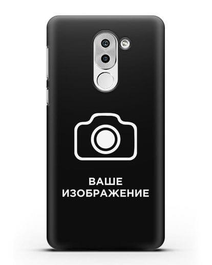 Чехол с фотографией, рисунком, логотипом на заказ силикон черный для Huawei Mate 9 Lite